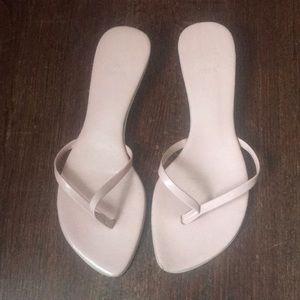 Zara Pink Heeled Thong Sandal